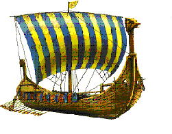 帆にペンキを塗る歴史はノルウェーのバイキングの時代