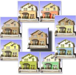 住宅の外壁カラーサンプルとカラーシミュレーション