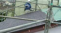カラーベスト屋根の遮熱塗装