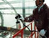 『酸化チタン光触媒』の塗装施工例「札幌ドーム」